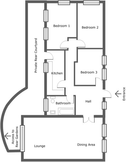Floor Plan for Luxury Holiday Apartment 1