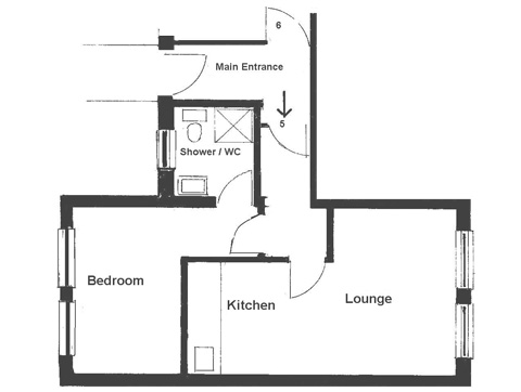 Floor Plan for Luxury Holiday Apartment 5