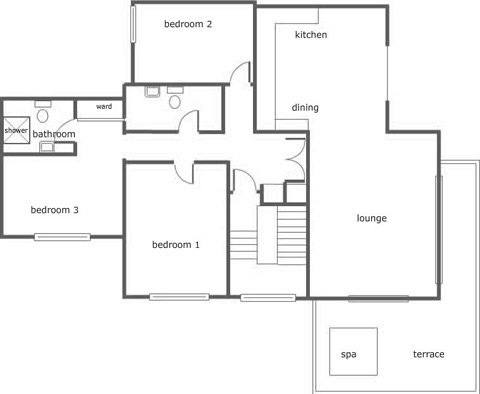Floor Plan for Luxury Holiday Apartment 9 - The Penthouse